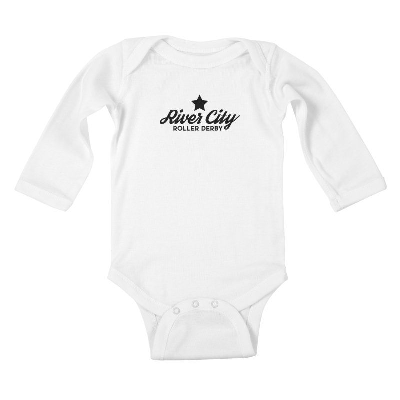 River City Roller Derby Kids Baby Longsleeve Bodysuit by RiverCityRollerDerby's Artist Shop