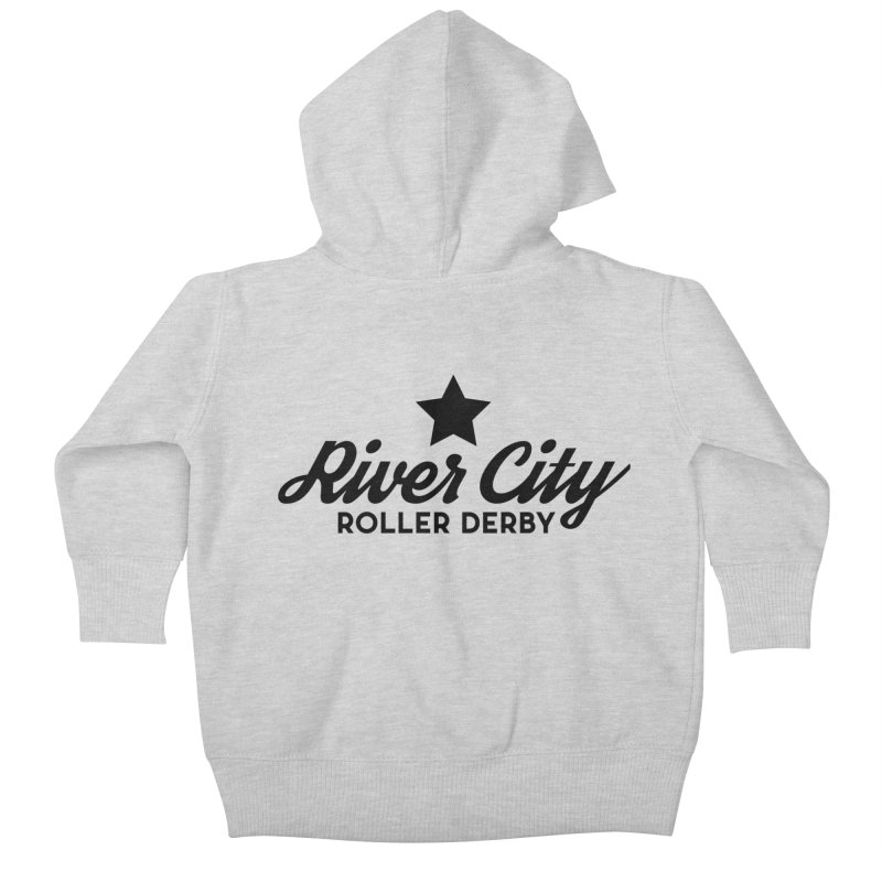 River City Roller Derby Kids Baby Zip-Up Hoody by RiverCityRollerDerby's Artist Shop