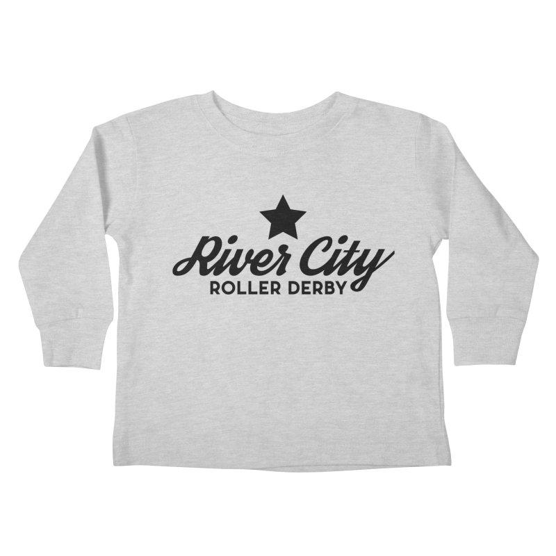 River City Roller Derby Kids Toddler Longsleeve T-Shirt by River City Roller Derby's Artist Shop