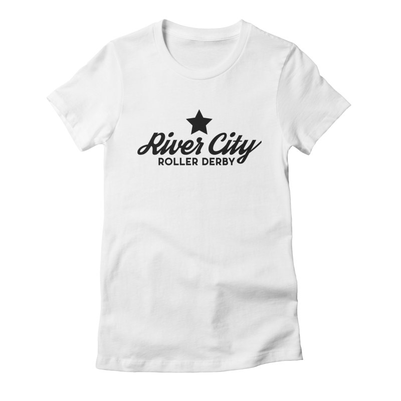 River City Roller Derby Women's Fitted T-Shirt by RiverCityRollerDerby's Artist Shop