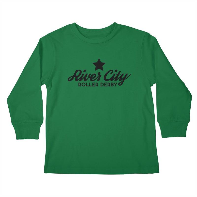 River City Roller Derby Kids Longsleeve T-Shirt by River City Roller Derby's Artist Shop