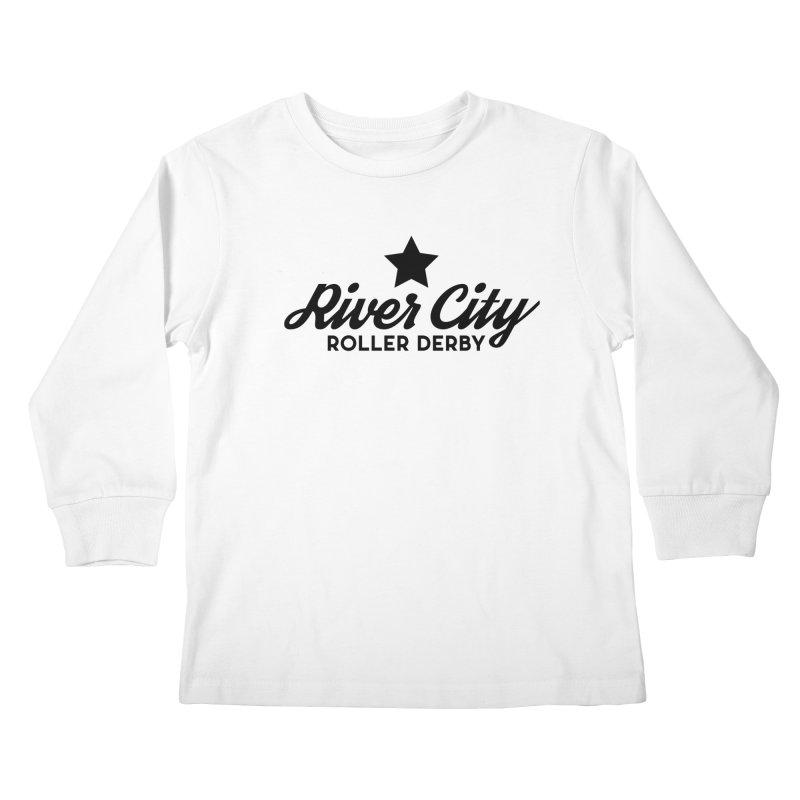 River City Roller Derby Kids Longsleeve T-Shirt by RiverCityRollerDerby's Artist Shop