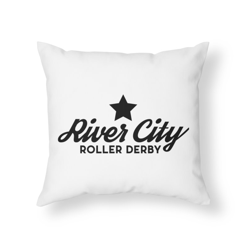 River City Roller Derby Home Throw Pillow by River City Roller Derby's Artist Shop