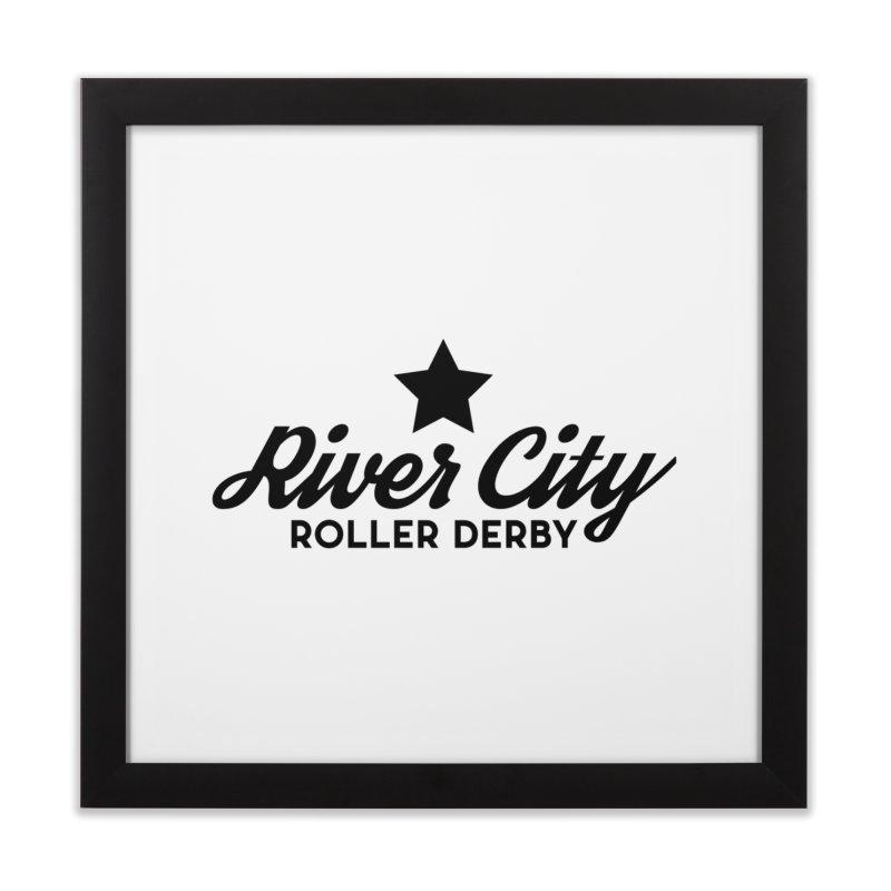 River City Roller Derby Home Framed Fine Art Print by RiverCityRollerDerby's Artist Shop