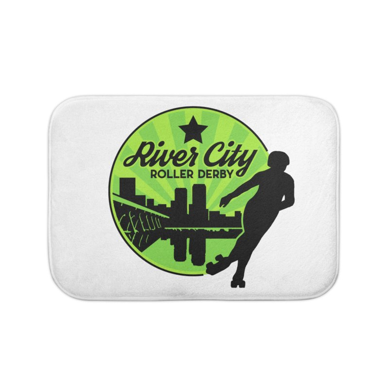 River City Roller Derby Logo Home Bath Mat by RiverCityRollerDerby's Artist Shop