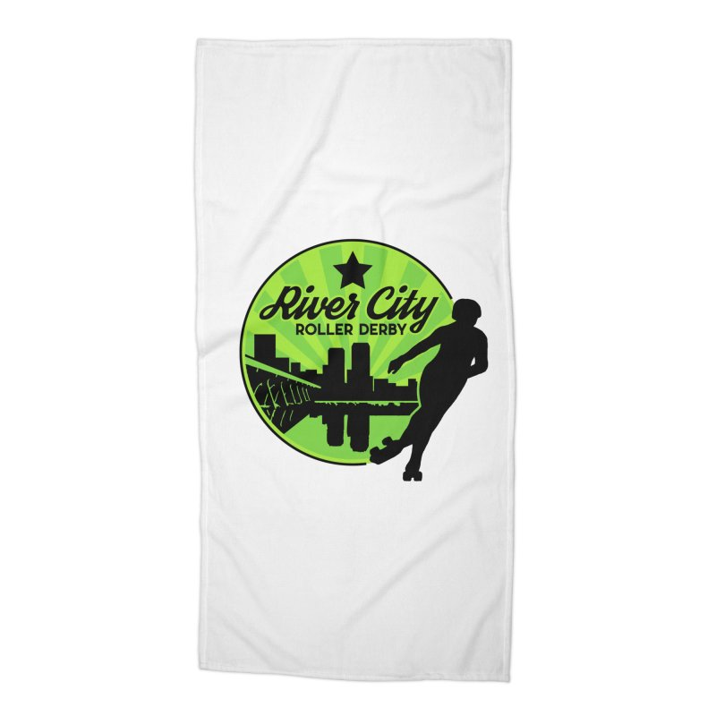 River City Roller Derby Logo Accessories Beach Towel by RiverCityRollerDerby's Artist Shop
