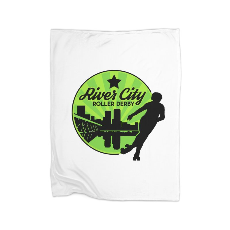 River City Roller Derby Logo Home Fleece Blanket Blanket by River City Roller Derby's Artist Shop