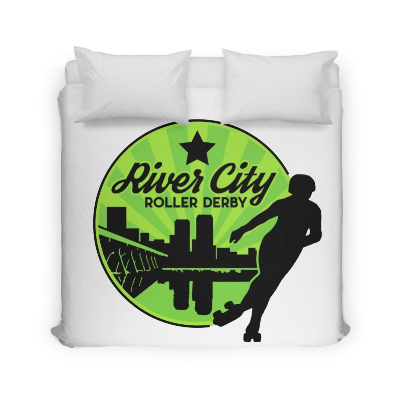 River City Roller Derby Logo Home Duvet by River City Roller Derby's Artist Shop