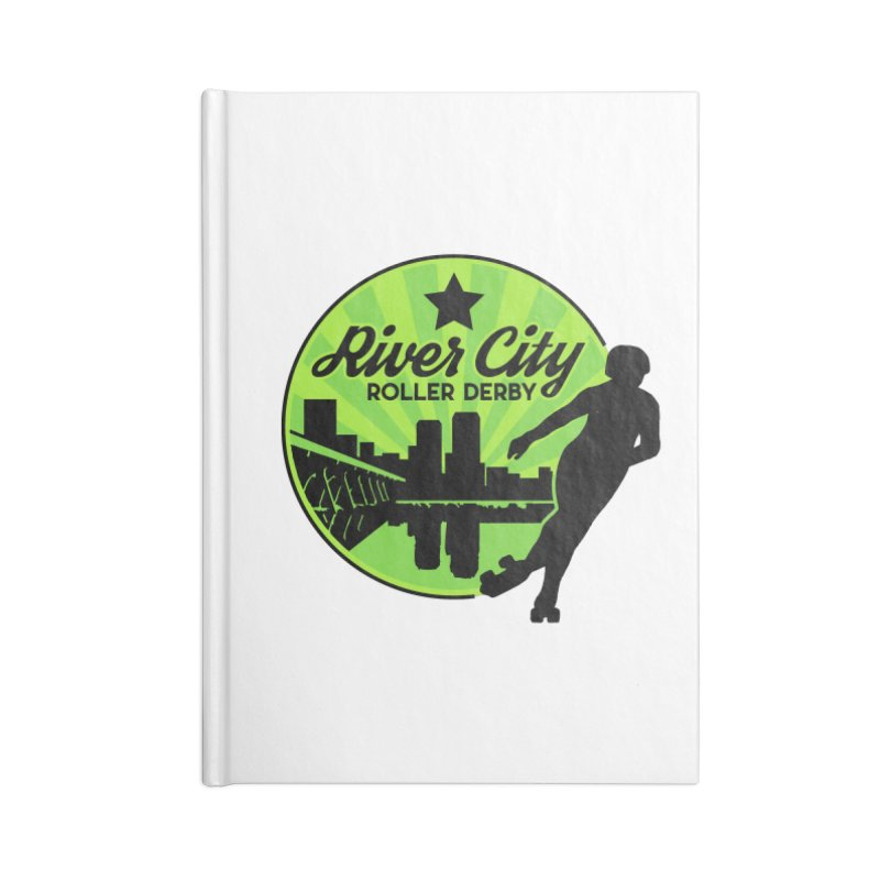 River City Roller Derby Logo Accessories Notebook by River City Roller Derby's Artist Shop