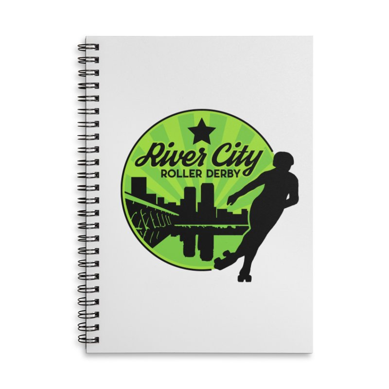 River City Roller Derby Logo Accessories Lined Spiral Notebook by River City Roller Derby's Artist Shop
