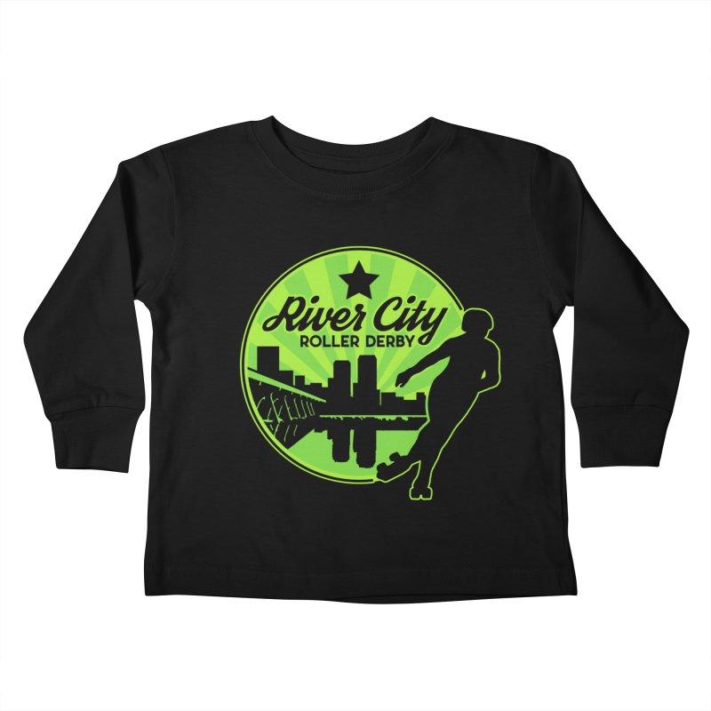 River City Roller Derby Logo Kids Toddler Longsleeve T-Shirt by River City Roller Derby's Artist Shop