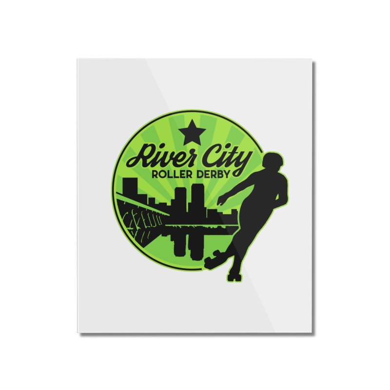 River City Roller Derby Logo Home Mounted Acrylic Print by River City Roller Derby's Artist Shop