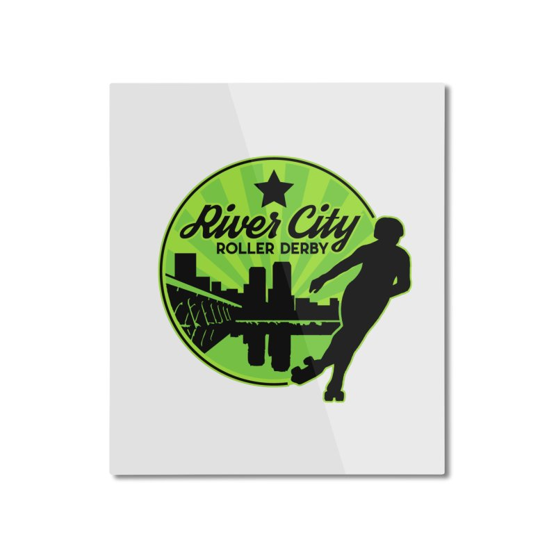 River City Roller Derby Logo Home Mounted Aluminum Print by River City Roller Derby's Artist Shop