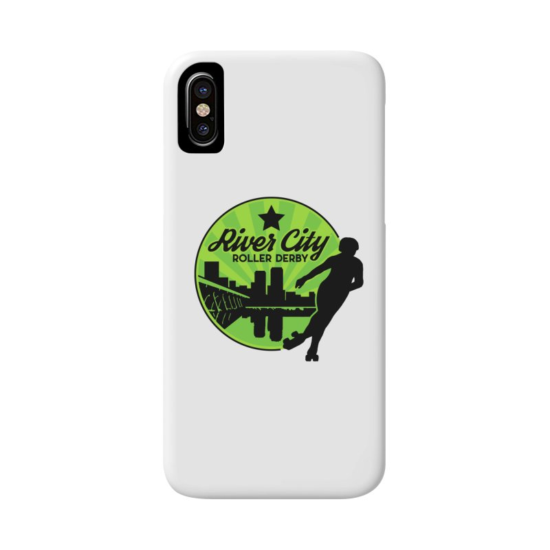 River City Roller Derby Logo Accessories Phone Case by RiverCityRollerDerby's Artist Shop