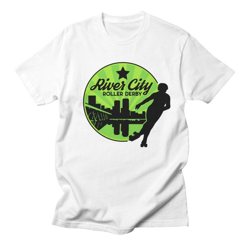 River City Roller Derby Logo in Men's Regular T-Shirt White by River City Roller Derby's Artist Shop