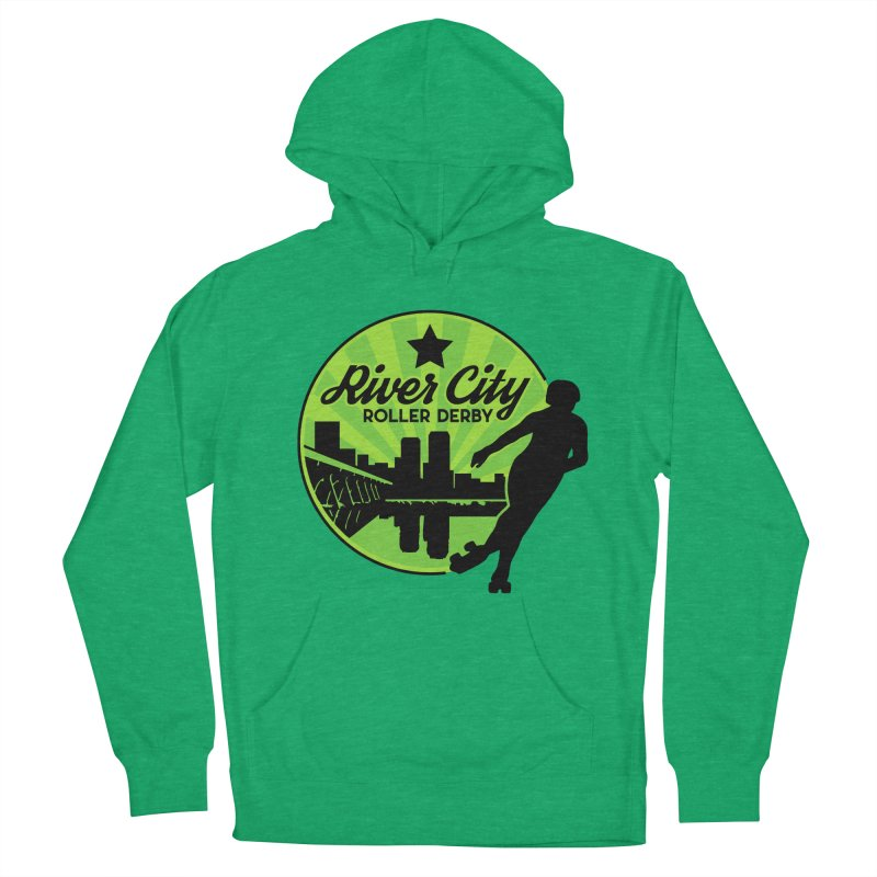 River City Roller Derby Logo Men's French Terry Pullover Hoody by River City Roller Derby's Artist Shop