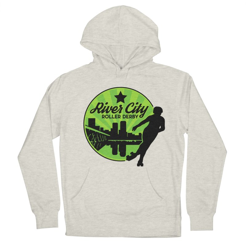 River City Roller Derby Logo Men's French Terry Pullover Hoody by RiverCityRollerDerby's Artist Shop