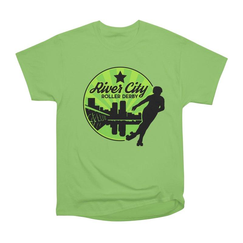 River City Roller Derby Logo Men's Heavyweight T-Shirt by River City Roller Derby's Artist Shop