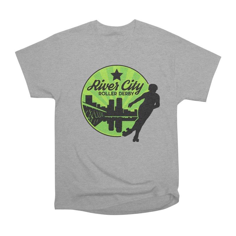 River City Roller Derby Logo Women's Heavyweight Unisex T-Shirt by RiverCityRollerDerby's Artist Shop