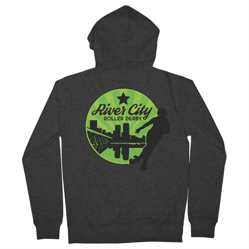 River City Roller Derby Logo Women's French Terry Zip-Up Hoody by RiverCityRollerDerby's Artist Shop