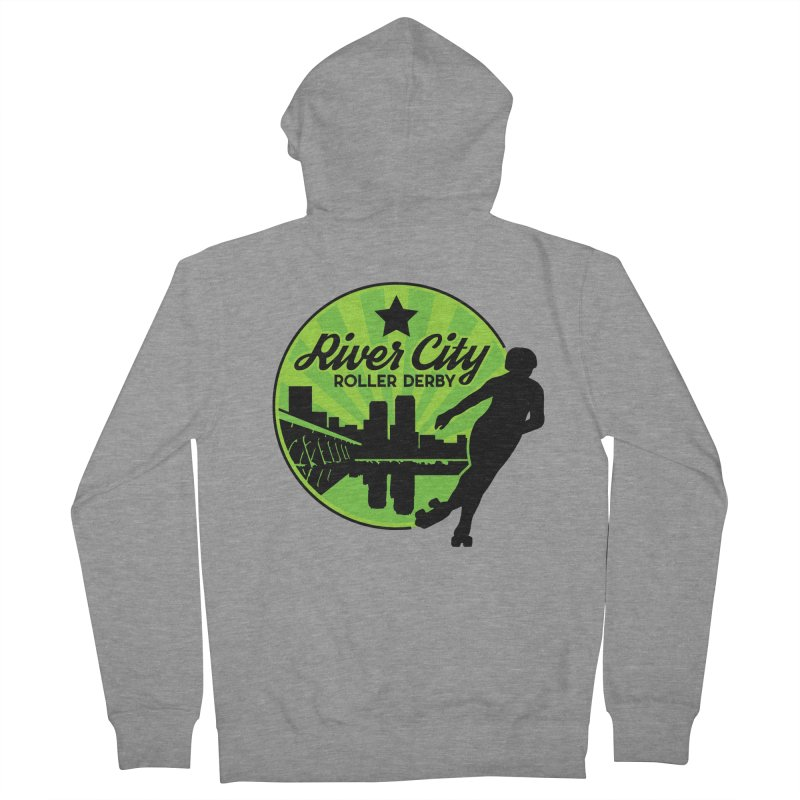 River City Roller Derby Logo Men's French Terry Zip-Up Hoody by River City Roller Derby's Artist Shop