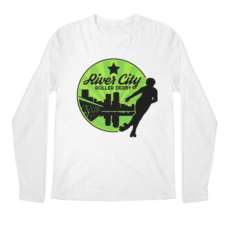 River City Roller Derby Logo Men's Regular Longsleeve T-Shirt by River City Roller Derby's Artist Shop