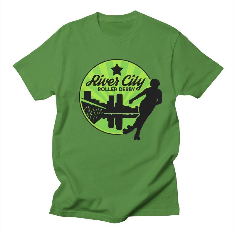 River City Roller Derby Logo Men's Regular T-Shirt by RiverCityRollerDerby's Artist Shop