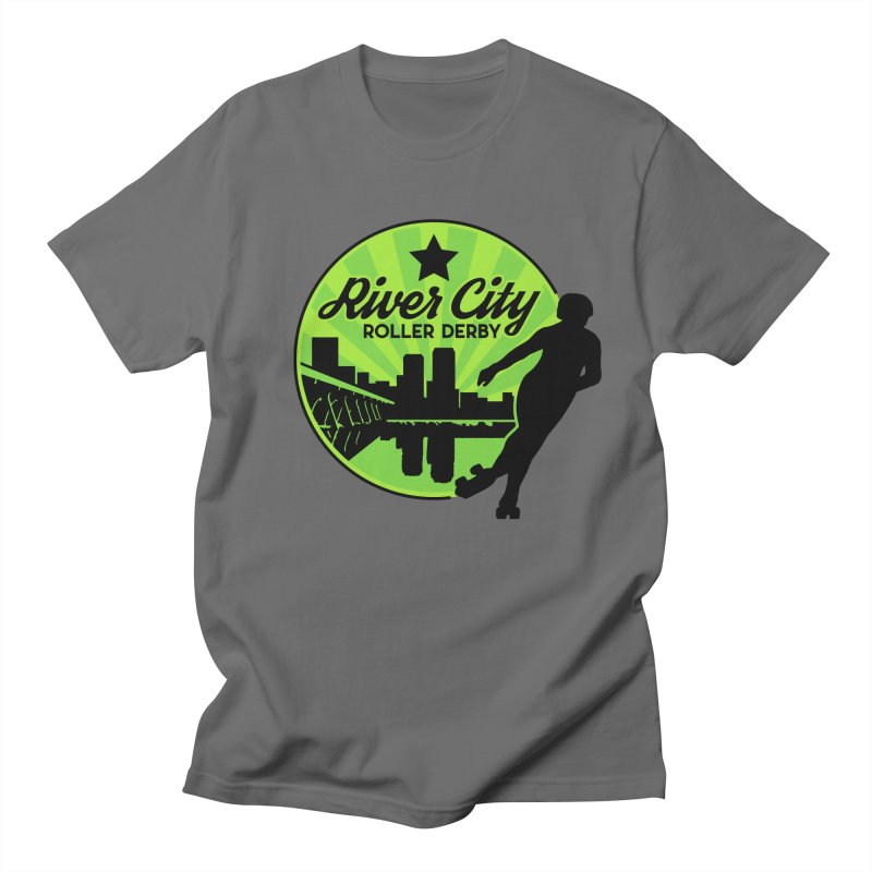 River City Roller Derby Logo Women's Regular Unisex T-Shirt by RiverCityRollerDerby's Artist Shop