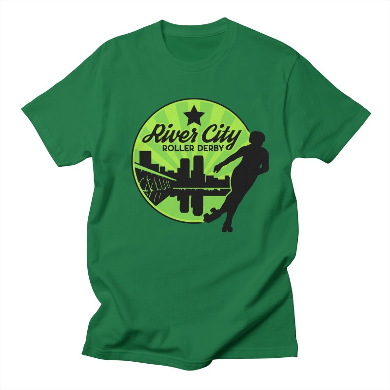 River City Roller Derby Logo Men's Regular T-Shirt by RiverCityRollerDerby's Artist Shop
