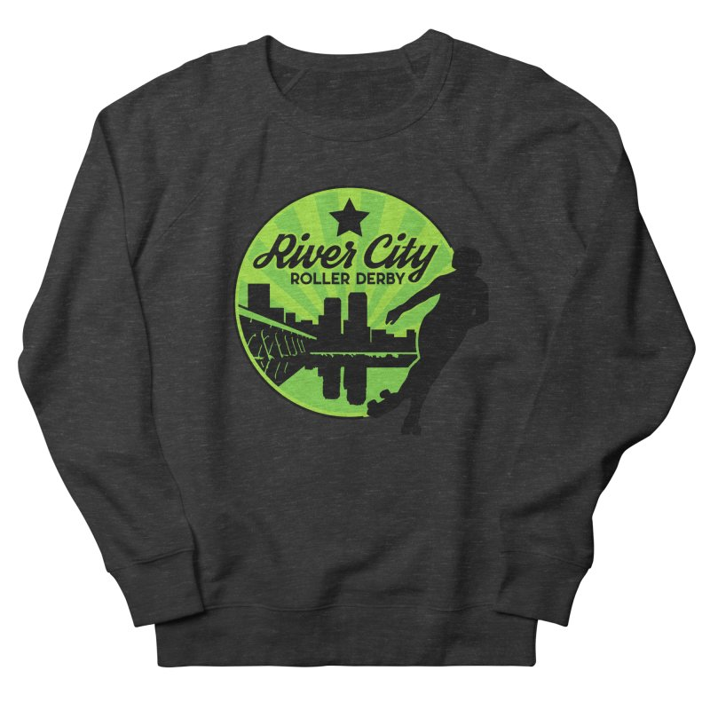 River City Roller Derby Logo Men's French Terry Sweatshirt by River City Roller Derby's Artist Shop