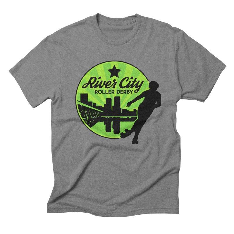 River City Roller Derby Logo Men's Triblend T-Shirt by RiverCityRollerDerby's Artist Shop