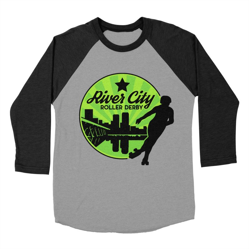 River City Roller Derby Logo Women's Baseball Triblend Longsleeve T-Shirt by RiverCityRollerDerby's Artist Shop