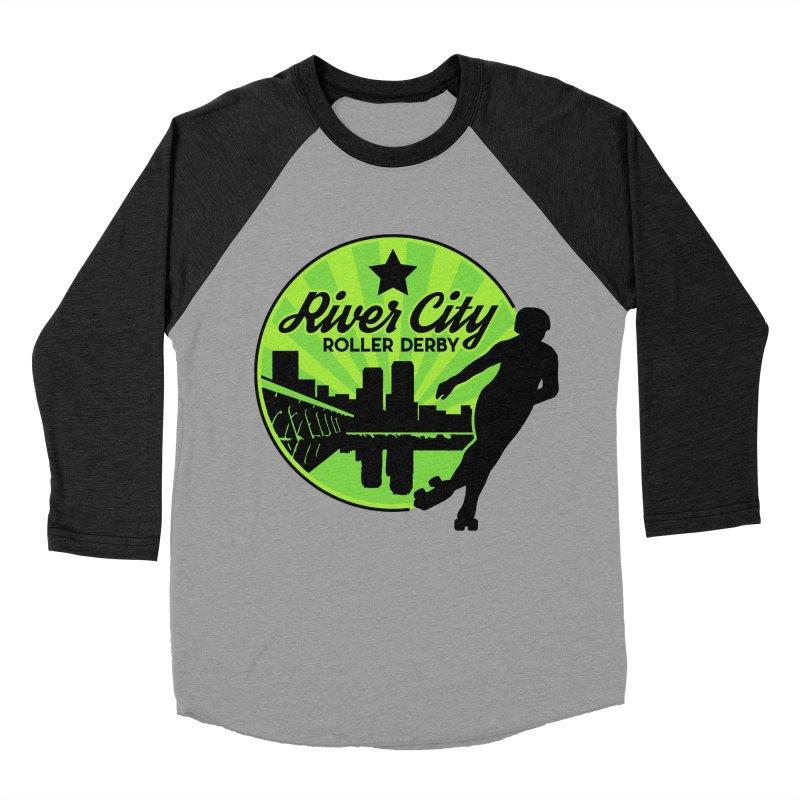River City Roller Derby Logo Men's Baseball Triblend Longsleeve T-Shirt by RiverCityRollerDerby's Artist Shop