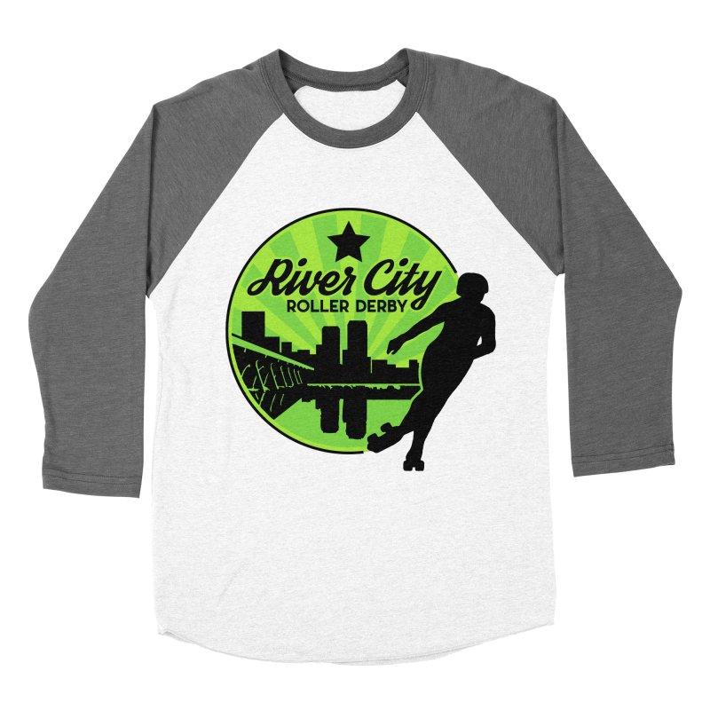 River City Roller Derby Logo Men's Baseball Triblend Longsleeve T-Shirt by River City Roller Derby's Artist Shop