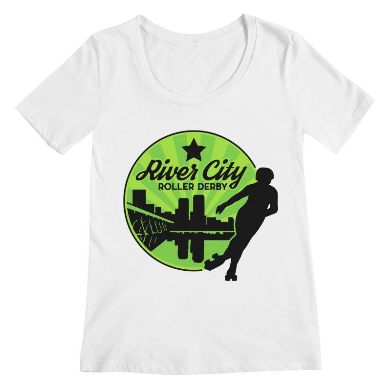 River City Roller Derby Logo Women's Regular Scoop Neck by River City Roller Derby's Artist Shop