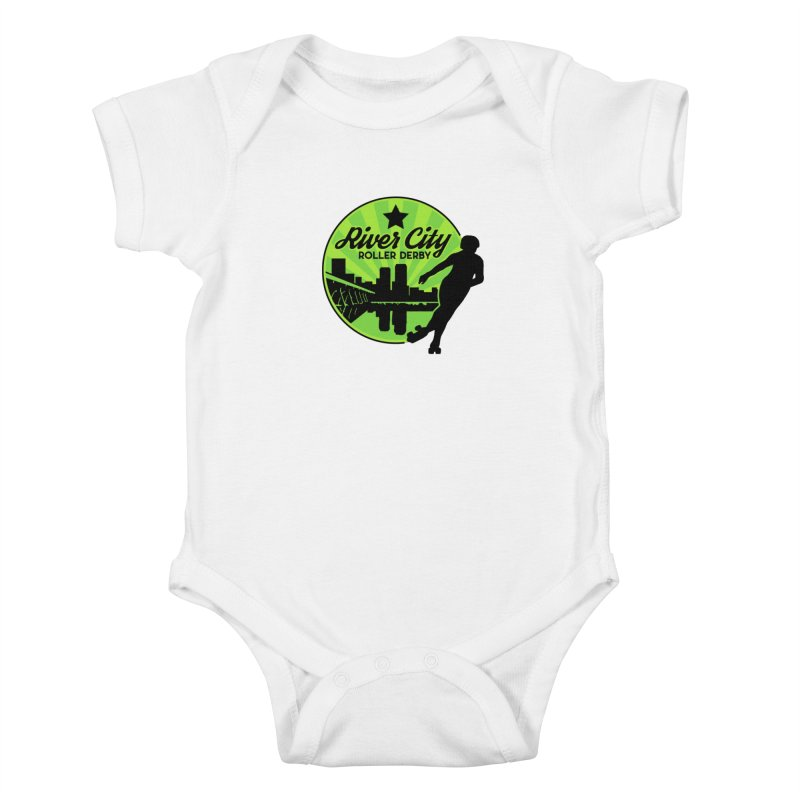 River City Roller Derby Logo Kids Baby Bodysuit by RiverCityRollerDerby's Artist Shop