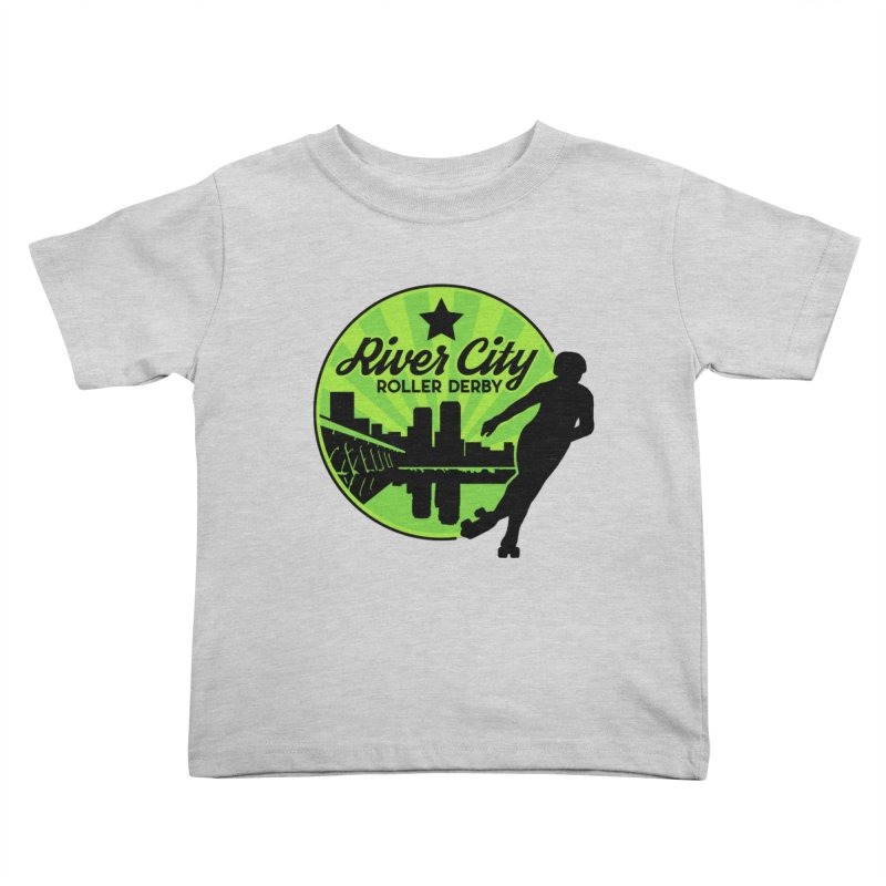 River City Roller Derby Logo Kids Toddler T-Shirt by RiverCityRollerDerby's Artist Shop