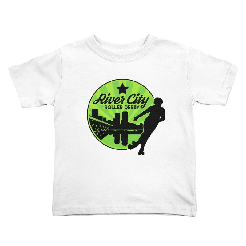 River City Roller Derby Logo Kids Toddler T-Shirt by River City Roller Derby's Artist Shop