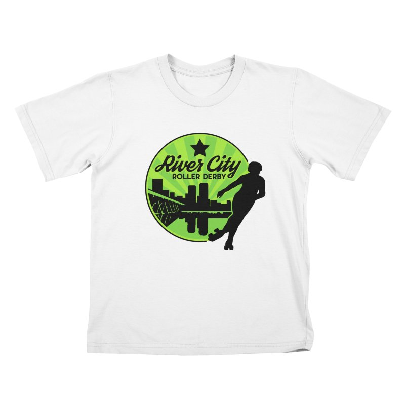 River City Roller Derby Logo Kids T-Shirt by River City Roller Derby's Artist Shop