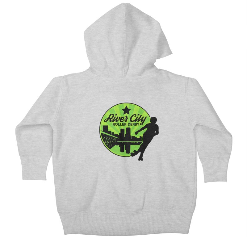 River City Roller Derby Logo Kids Baby Zip-Up Hoody by River City Roller Derby's Artist Shop