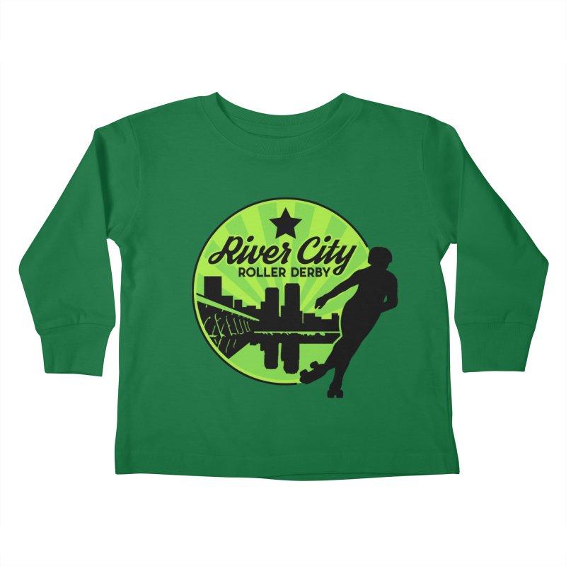 River City Roller Derby Logo Kids Toddler Longsleeve T-Shirt by RiverCityRollerDerby's Artist Shop
