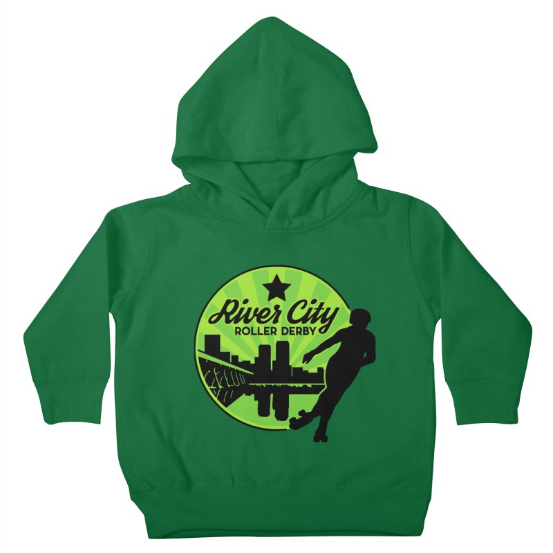 River City Roller Derby Logo Kids Toddler Pullover Hoody by River City Roller Derby's Artist Shop
