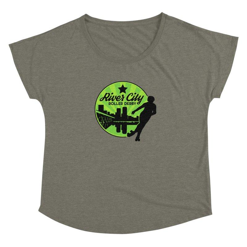River City Roller Derby Logo Women's Dolman Scoop Neck by RiverCityRollerDerby's Artist Shop