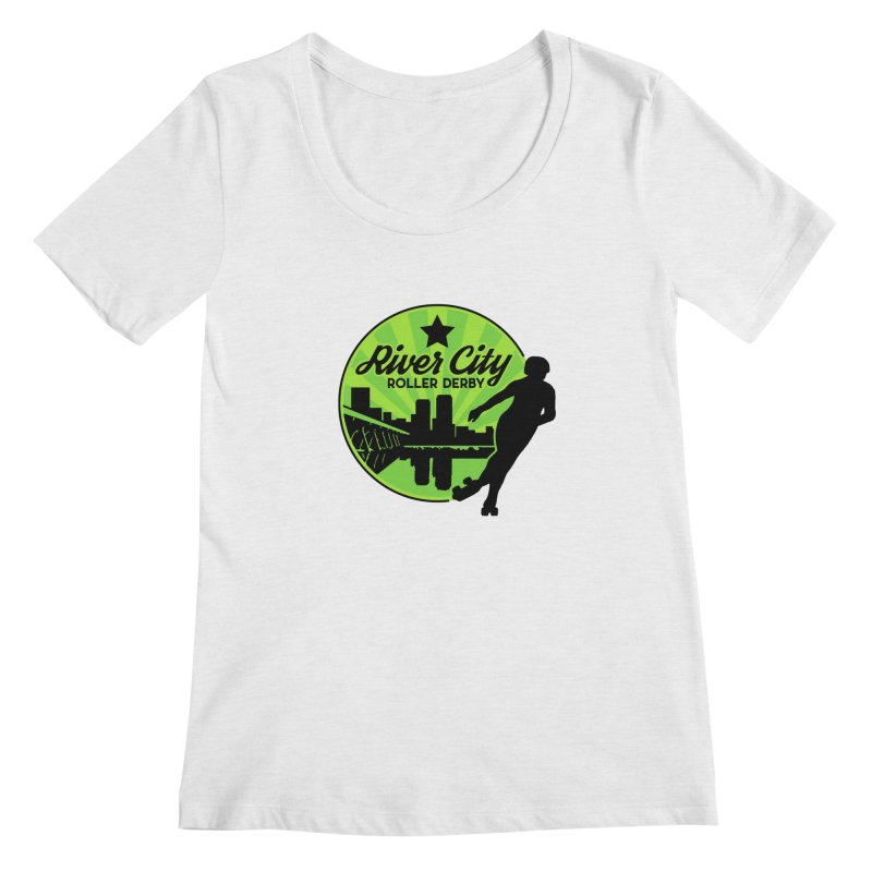 River City Roller Derby Logo Women's Regular Scoop Neck by RiverCityRollerDerby's Artist Shop