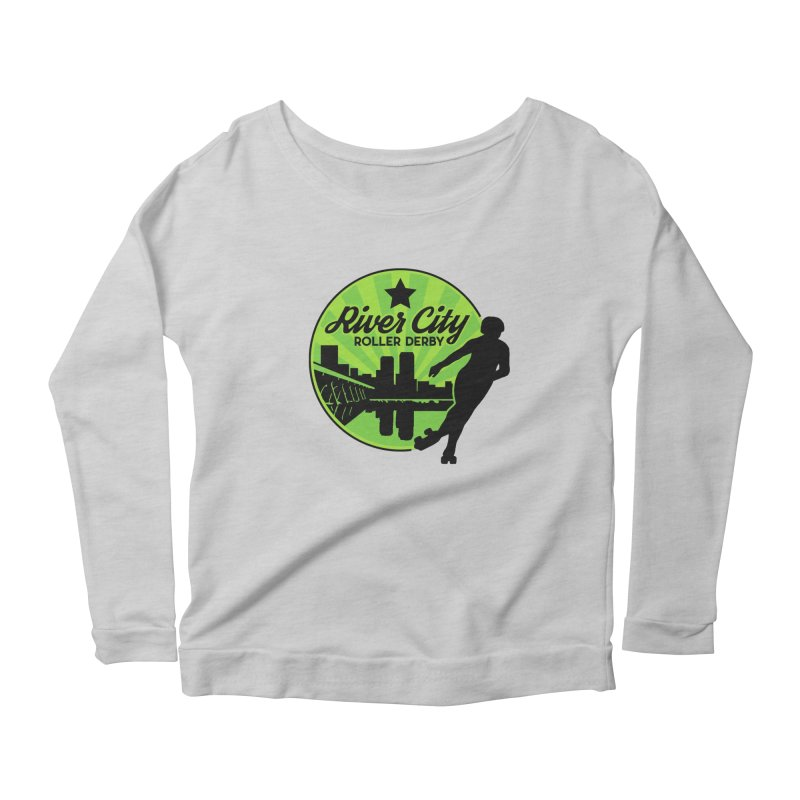 River City Roller Derby Logo Women's Scoop Neck Longsleeve T-Shirt by RiverCityRollerDerby's Artist Shop