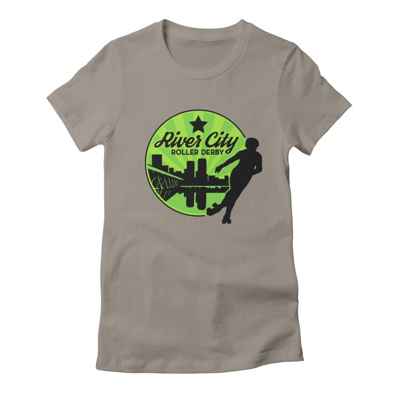 River City Roller Derby Logo Women's Fitted T-Shirt by RiverCityRollerDerby's Artist Shop