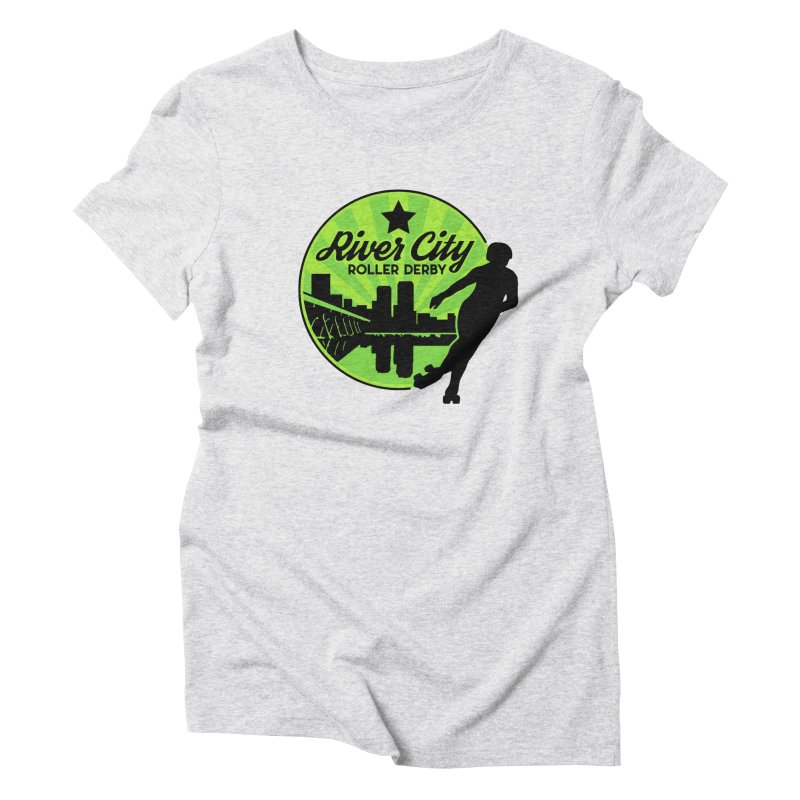 River City Roller Derby Logo Women's Triblend T-Shirt by River City Roller Derby's Artist Shop