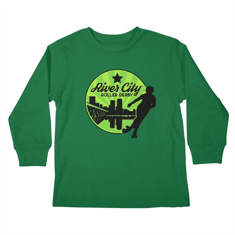 River City Roller Derby Logo Kids Longsleeve T-Shirt by River City Roller Derby's Artist Shop