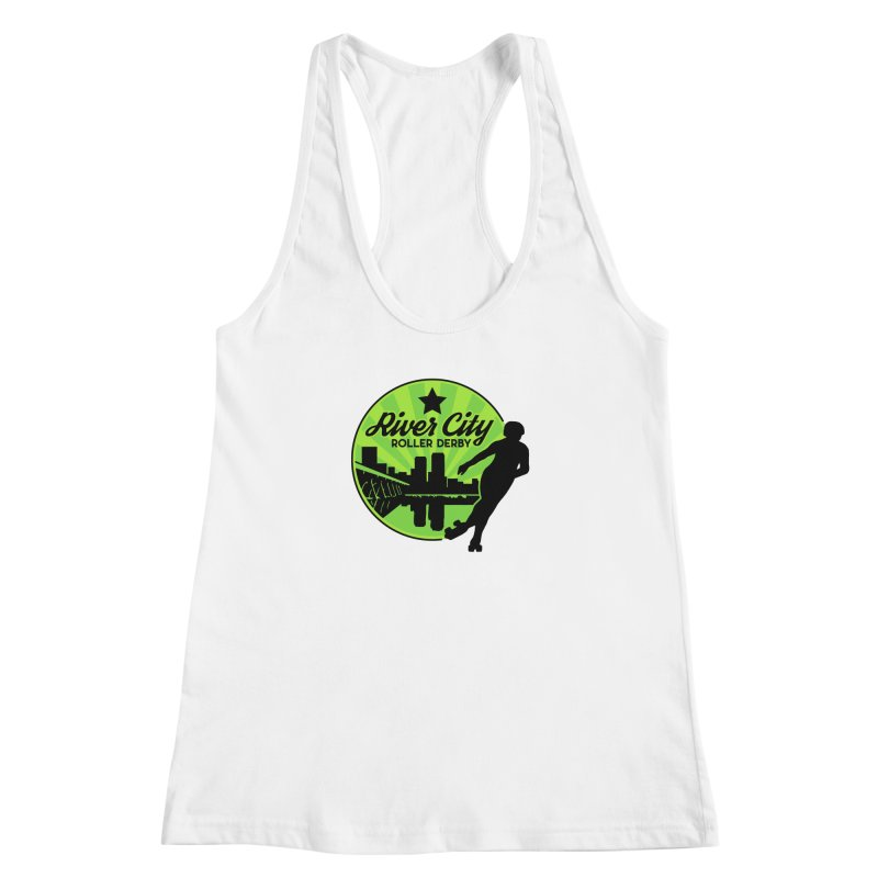 River City Roller Derby Logo Women's Racerback Tank by River City Roller Derby's Artist Shop