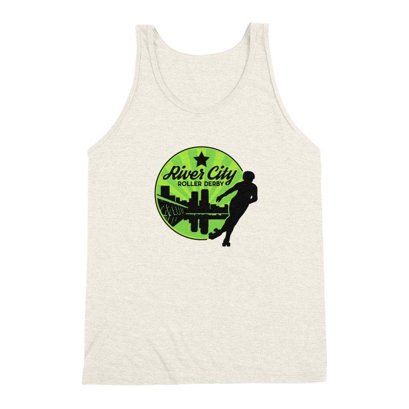 River City Roller Derby Logo Men's Triblend Tank by RiverCityRollerDerby's Artist Shop